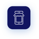 Icon depicting eCommerce and website development